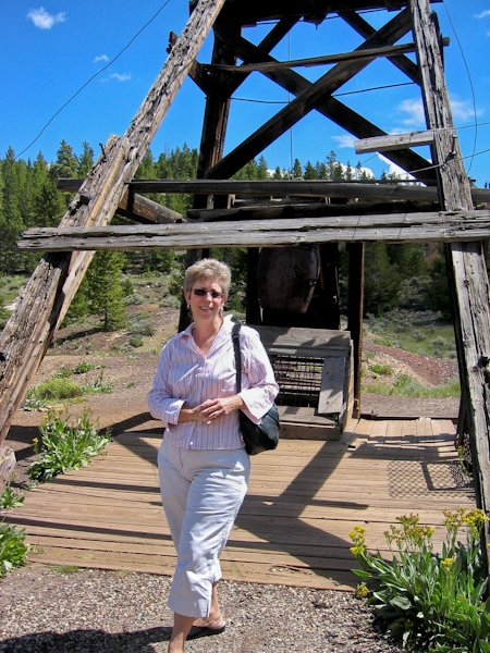 Susan S. Ashbaker at the famed Matchless Mine