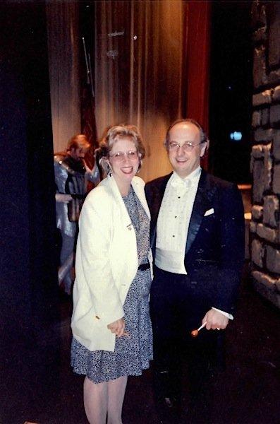 Susan S. Ashbaker and Conductor Maurizio Barbacini